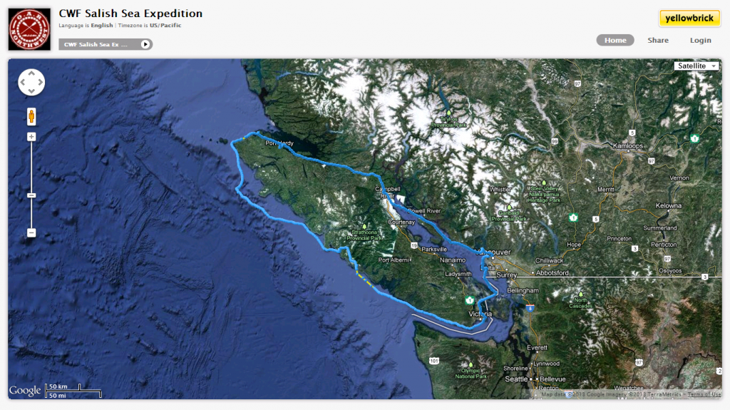 CWF Salish Sea Expedition map