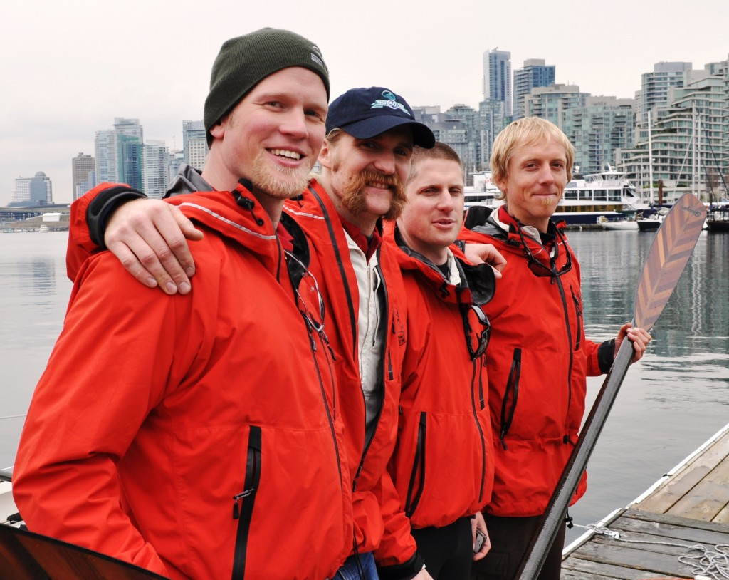 Crew at Vancouver Rowing Club dock 4 11 2012