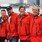 OAR Northwest crew prior to expedition launching at Vancouver Rowing Club
