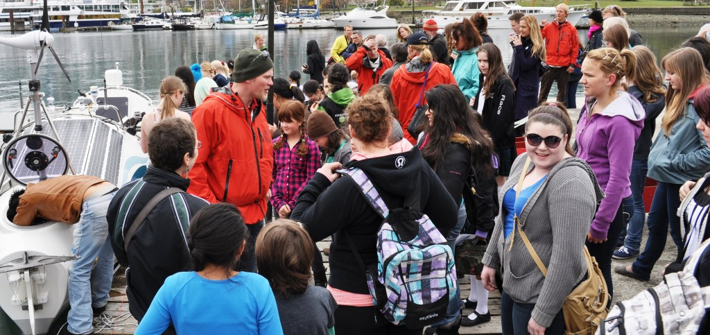 Engaging Crowd at 2011 Vancouver Launching