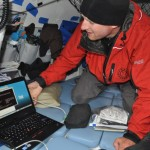 Richard Downloading Final Data Set from Datalogger in Vancouver