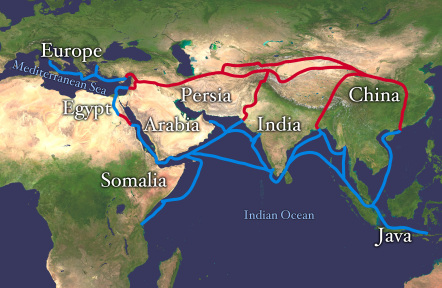 silkroad trade map