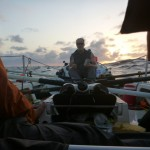 Rowing into the sunset of the 30th day at sea